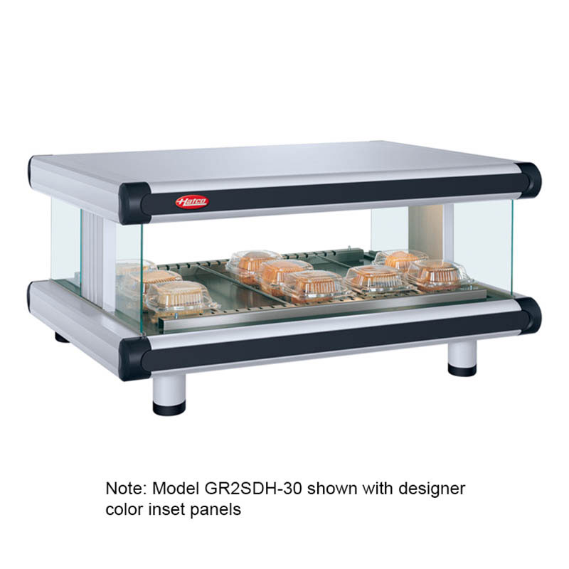 Hatco GR2SDH-36 Designer Horizontal Display Warmer, 1 Shelf w/ 7 Rods, 995 W
