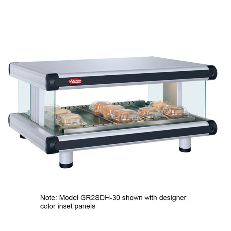 Hatco GR2SDH-54 Designer Horizontal Display Warmer, 1 Shelf w/ 10 Rods, 1540 W