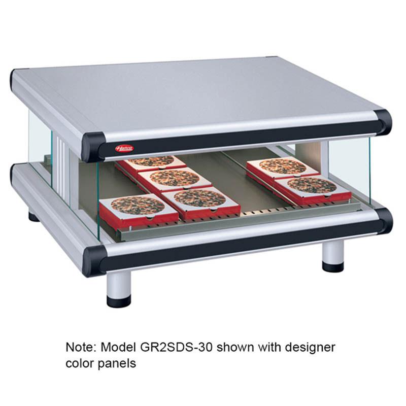 Hatco GR2SDS-42 Designer Slant Display Warmer, 1 Shelf w/ 8 Rods, 1240W