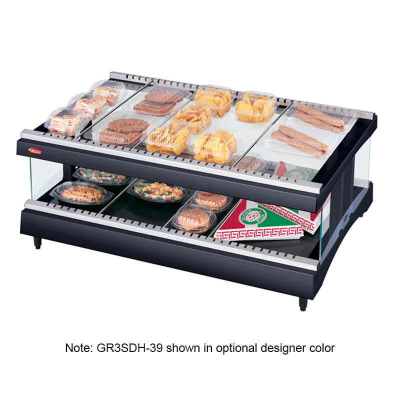 Hatco GR3SDH-39 Glo-Ray Horizontal Display Warmer, 1 Shelf w/ 14 Rods. 1490 W