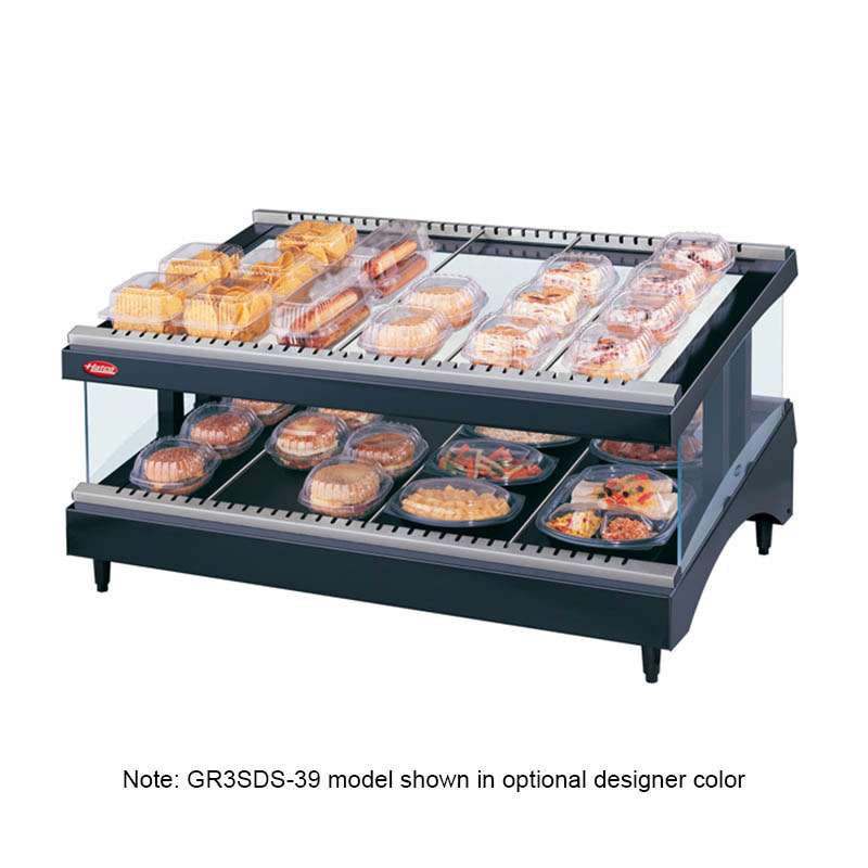 Hatco GR3SDS-27 Glo-Ray Designer Slant Display Warmer, 10 Rods, 1 Shelf, 1010 W