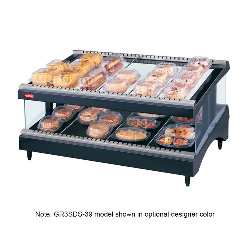 Hatco GR3SDS-33 Glo-Ray Designer Slant Display Warmer, 12 Rods, 1 Shelf, 1240 W