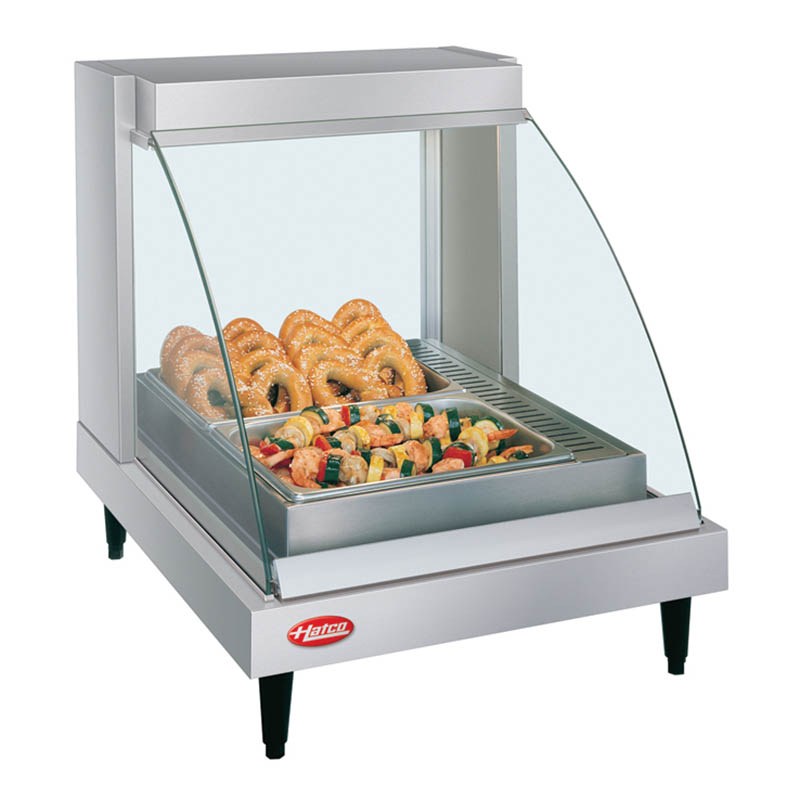 Hatco GRCDH-1P Glo-Ray Heated Display Case w/ Humidity, 1 Pan Single Shelf
