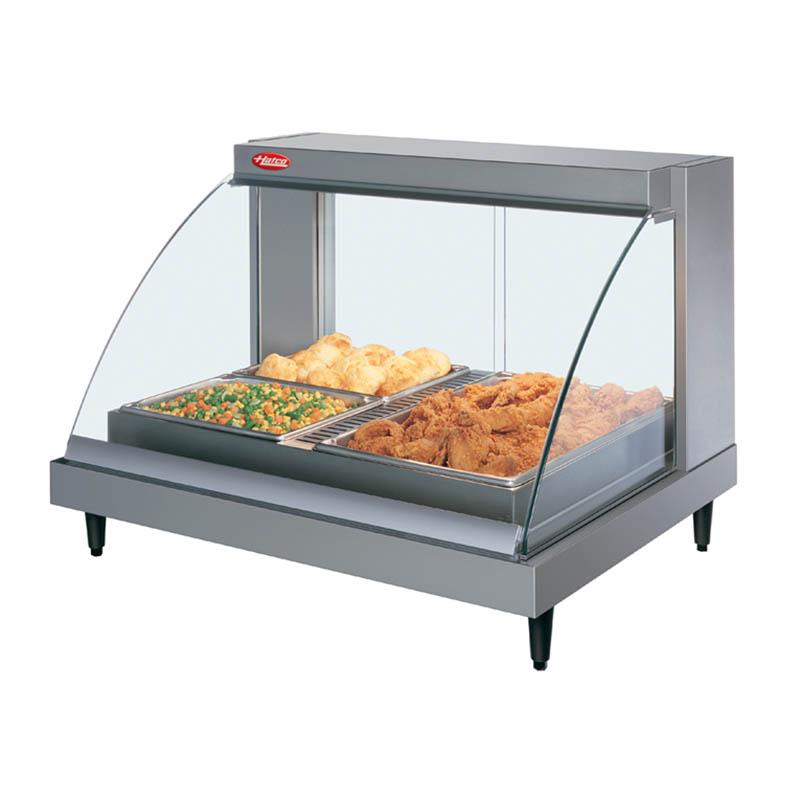 Hatco GRCDH-2P Glo-Ray Heated Display Case w/ Humidity, 2 Pan Single Shelf