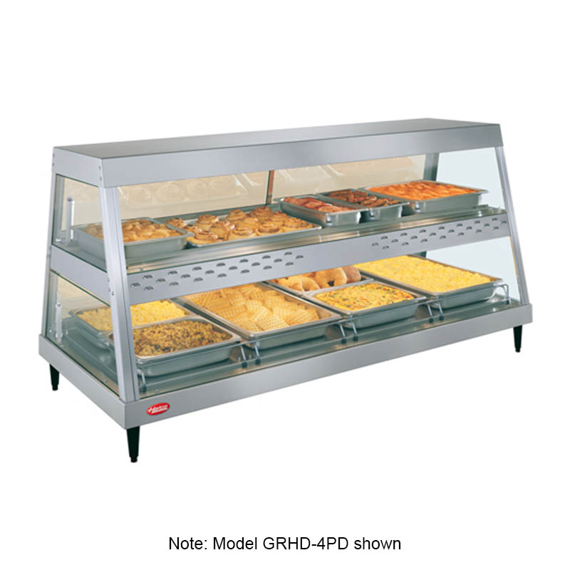 Hatco GRHD-4P 58.5-in Heated See-Thru Display Case w/ 4-Pan Shelf, 120 V