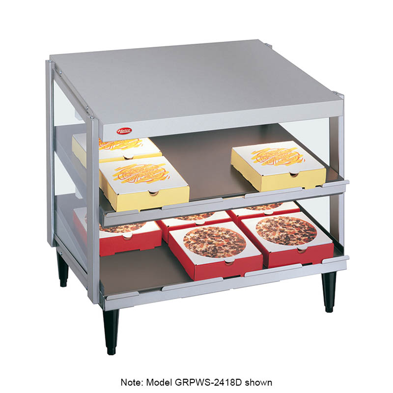 Hatco GRPWS-2418T Glo-Ray Pizza Warmer, Pass Thru, 3 Slant Shelf, 24 in x 18 in