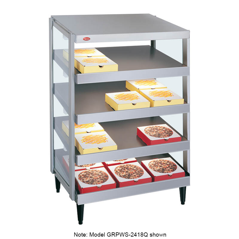 Hatco GRPWS-3618Q Glo-Ray Pizza Warmer, Pass Thru, 4 Slant Shelf, 36 in x 18 in