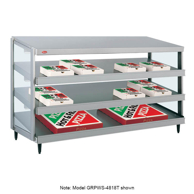 Hatco GRPWS-3618T Glo-Ray Pizza Warmer, Pass Thru, 3 Slant Shelf, 36 in x 18 in