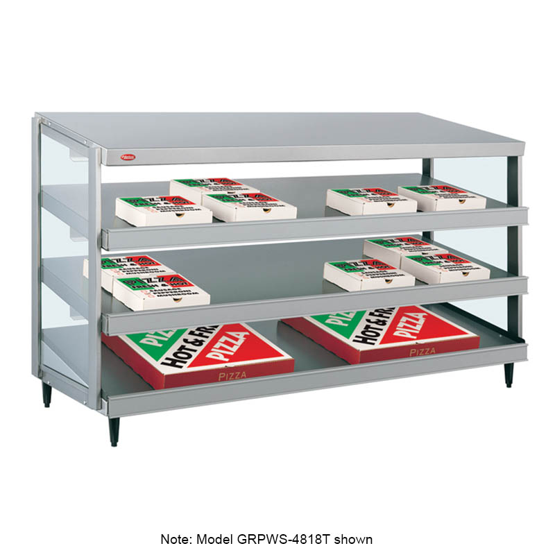 Hatco GRPWS-3624T Glo-Ray Pizza Warmer, Pass Thru, 3 Slant Shelf, 36 in x 24 in