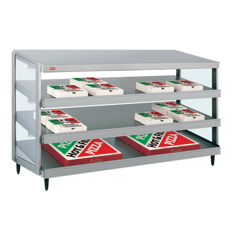 Hatco GRPWS-4818T Glo-Ray Pizza Warmer, Pass Thru, 3 Slant Shelf, 48 in x 18 in