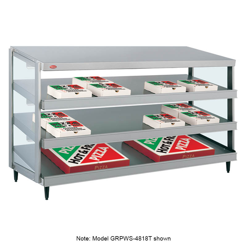 Hatco GRPWS-4824T Glo-Ray Pizza Warmer, Pass Thru, 3 Slant Shelf, 48 in x 24 in