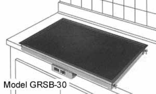 Hatco GRSBF-24-I Glo-Ray Drop In Heated Shelf w/ Flush Top, 25.5 in x 21 in, 550 W