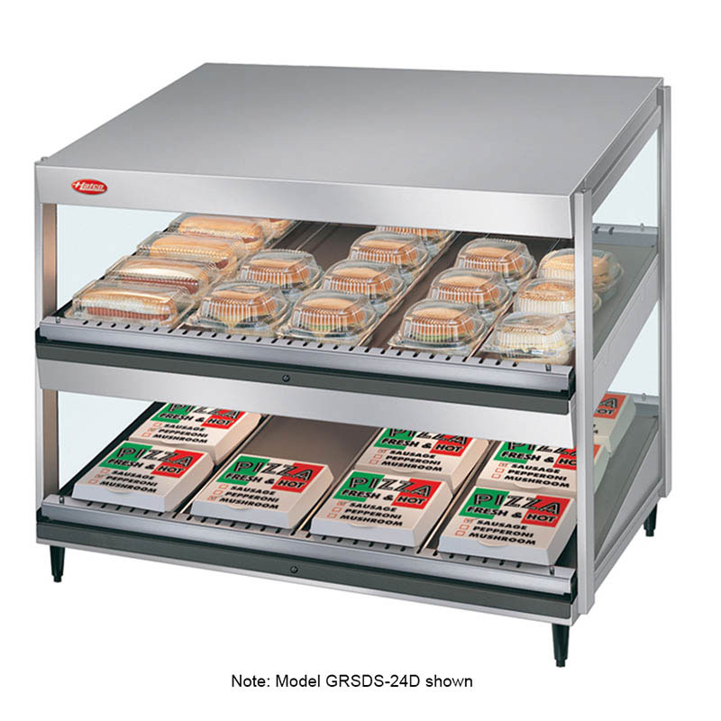Hatco GRSDS-60D Pass Thru Merchandising Warmer, Slanted Shelves, 24-Rods, 3340 W