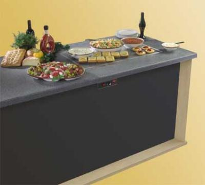 Hatco GRSSB-4818 49-5/8 Built In Heated Stone Shelf, 100-200F Temp Range
