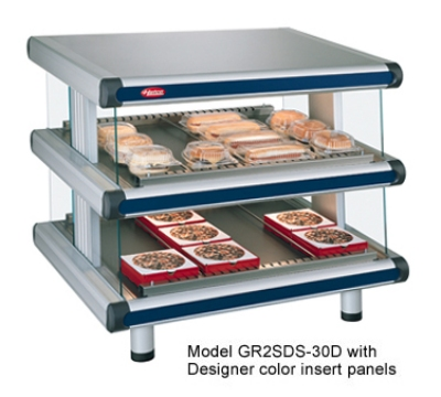 Hatco GR2SDS-30D 208 Slant Display Warmer, 2-Shelves w/ 12-Rods, 120/208 V