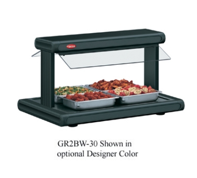 Hatco GR2BW-24 30-1/8-in Buffet Warmer w/ 2-Sneeze Guards & Light Restaurant Supply