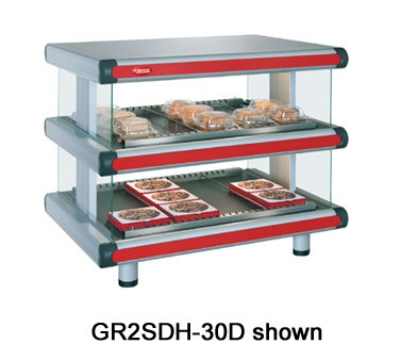 Hatco GR2SDH-36D 208 Horizontal Display Warmer, 2-Shelves w/ 14-Rods, 120/208 V
