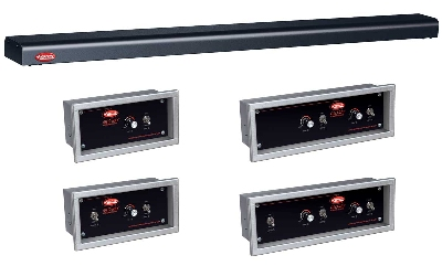 Hatco GRN4-18 BLACK 18-in Narrow Halogen Foodwarmer, Black, 120 V