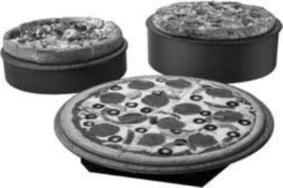 Hatco GRSSR-18 SS-GGRAN 18-in Round Portable Heated Stone Shelf, Gray Granite Stone, 120 V