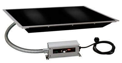 Hatco HBGB-7218 72-in Built-In Heated Glass Shelf w/ Thermo Control, Black, 120 V
