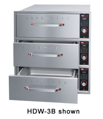Hatco HDW-2BN 120 Built-in Narrow Warming 2-Drawer Unit For Standard Pans, 120 V