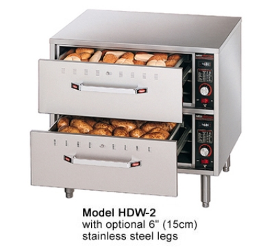 Hatco HDW-2 Freestanding Warming 2-Drawer Unit For Standard Size Pans, 120 V