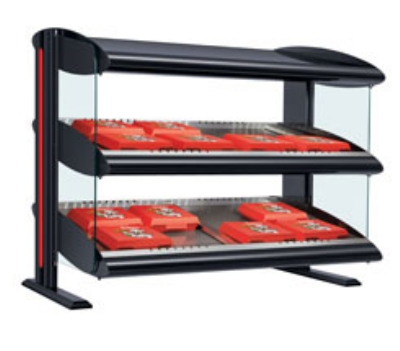 Hatco HZMS-42D Slanted Merchandising Warmer, 2-Shelf & 8-Zone, 12-Divider Rod, LED,