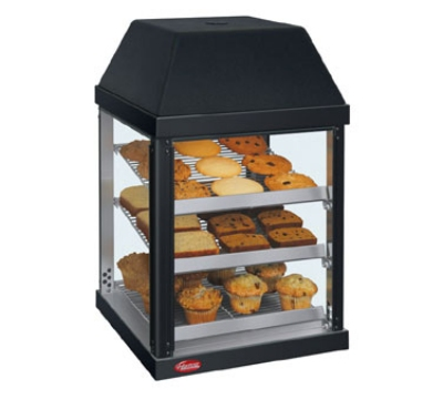 Hatco MDW-2X 120 BLACK Pass-Thru Mini Display Warmer w/ Adjustable Shelves, Black, 120 V