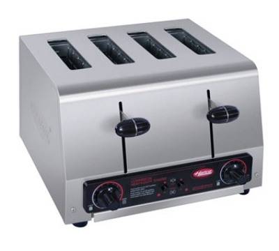 Hatco TPT-240-QS Pop-Up Toaster w/ 4-Self Centering Slots & Crumb Tray, Stainless