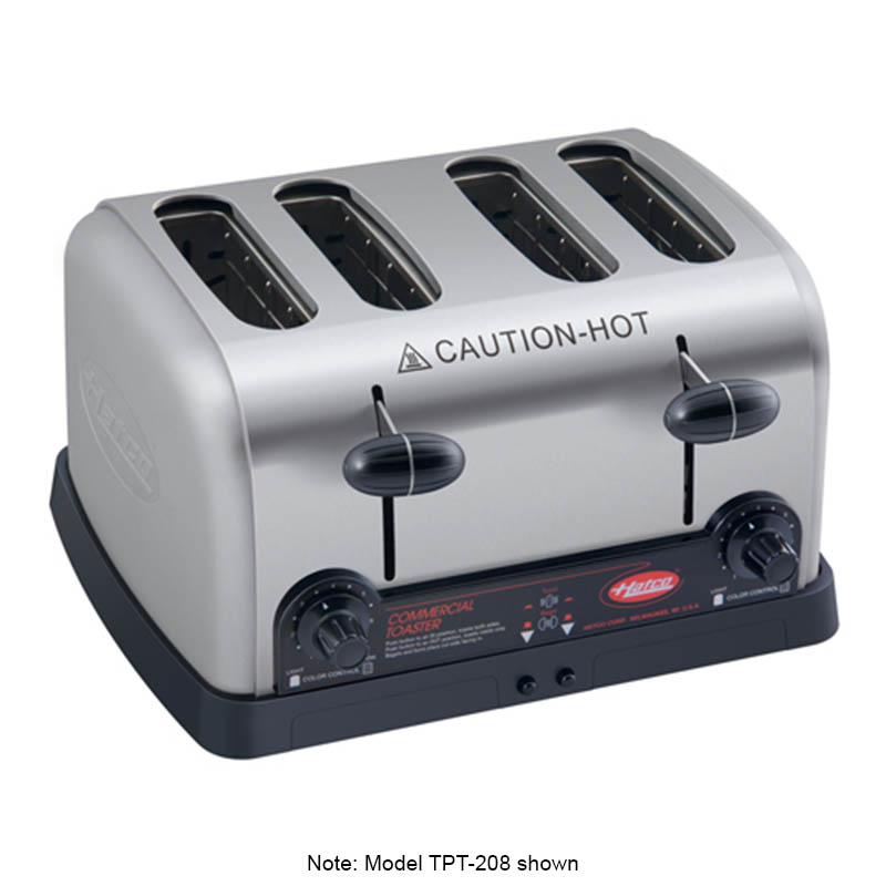 Hatco TPT-240 Pop-Up toaster w/ 4-Slots & Removable Crumb Tray, Stainless, 2700-watt