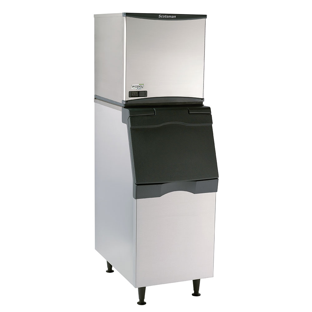 Scotsman C0522SA1AB322S Prodigy Cube Ice Maker w/ 475-lb Bin & 370-lb/24 Hr, Air Cooled, Stainless