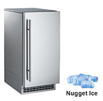 Scotsman SCN60PA1SS Undercounter Ice Maker - 80-lb/24-hr, 26-lb Storage, Nugget, Stainless