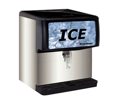 Scotsman ID200B-1 Cup Activated Ice Dispenser w/ 200-lb Capacity, Cube Ice, Counter Top, Stainless, 115/1V