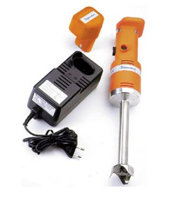 "Dynamic MXP94 Single Speed Mini Cordless Mizer - 7"" Immersible Tube, Standard Blade, 7000-RPM"