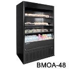 "Masterbilt BMOA-74 78"" Medium Temp Merchandiser - Open Air, LED, Black"