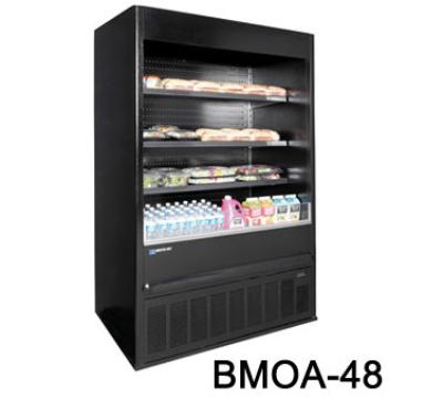"Masterbilt BMOA-74 78"" Medium Temp Merchandiser - Open Air, LED, Galvanized Steel"