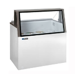 Masterbilt DD-46L Low Glass Ice Cream Dipping Cabinet - (8) 3-gal Capacity, (4) Storage, Galvanized
