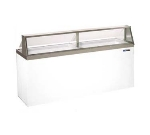 "Masterbilt DD-88 90.75"" Stand Alone Ice Cream Freezer w/ 16-Tub Capacity & 12-Tub Storage, Galvanized, 115v"