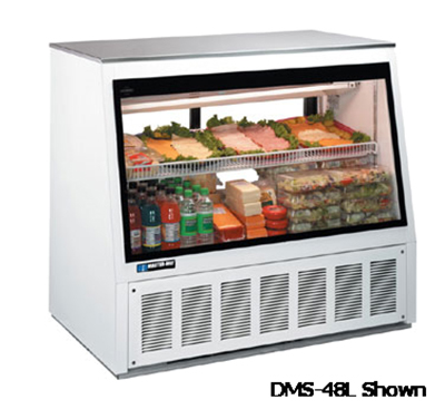 "Master-bilt DMS-72L 72"" Full Service Refrigerated Deli Case w/ Straight Glass - (2) Level, 1"