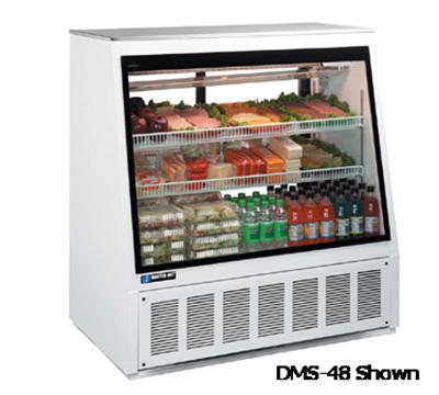 "Master-bilt DMS-72 72"" Full Service Refrigerated Deli Case w/ Straight Glass - (3) Levels, 11"