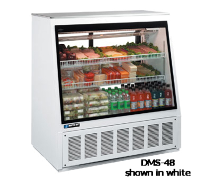 "Master-bilt DMS-96 96"" Full Service Refrigerated Deli Case w/ Straight Glass - (3) Levels, 115"