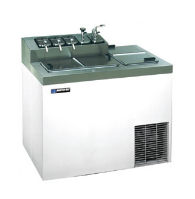 Masterbilt FLR-60-SE Ice Cream Dipping Cabinet w/ Flavorail - (5) 3-gal Capacity, (7) Storage, Stainless