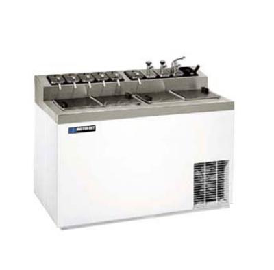 Masterbilt FLR-80 Ice Cream Dipping Cabinet w/ Flavorail - (6) 3-gal Capacity, (11) Storage, Galvanized