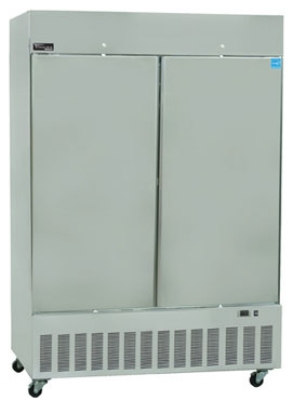 "Masterbilt BSD-52DFA 55"" Reach-In Freezer - (2) Solid Door, 52-cu ft, Stainless"