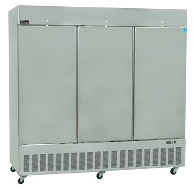 "Masterbilt BSD-80TFA 82.5"" Reach-In Freezer - (3) Solid Door, 80-cu ft, Stainless"