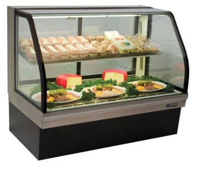 "Masterbilt CGD-59 59"" Deli Merchandiser - Lighted Mezzanine Shelf, Rear Air Intake, 115v"