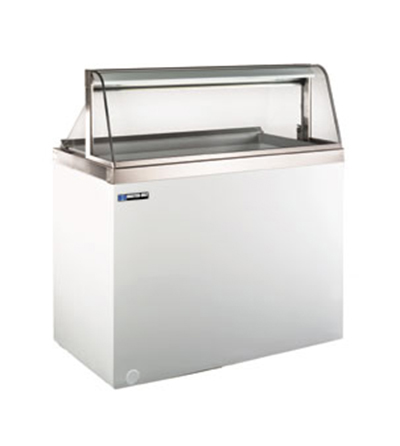 Masterbilt DD-88CG Ice Cream Dipping Cabinet - (16) 3-gal Capacity, (12) Storage, Curved Glass, Black