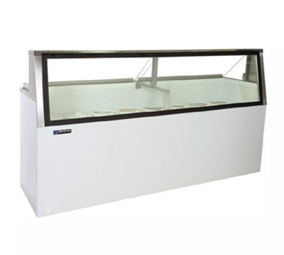 Masterbilt DD-88L Low Glass Ice Cream Dipping Cabinet - (16) 3-gal Capacity, (12) Storage, White
