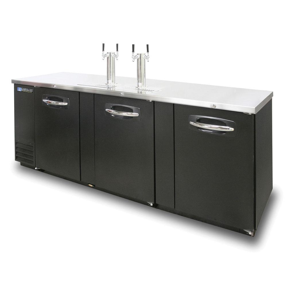 """Master-bilt MBDD95 95.5"""" Draft Beer System w/ (5) Keg Capacity - (2) Columns, Black"""