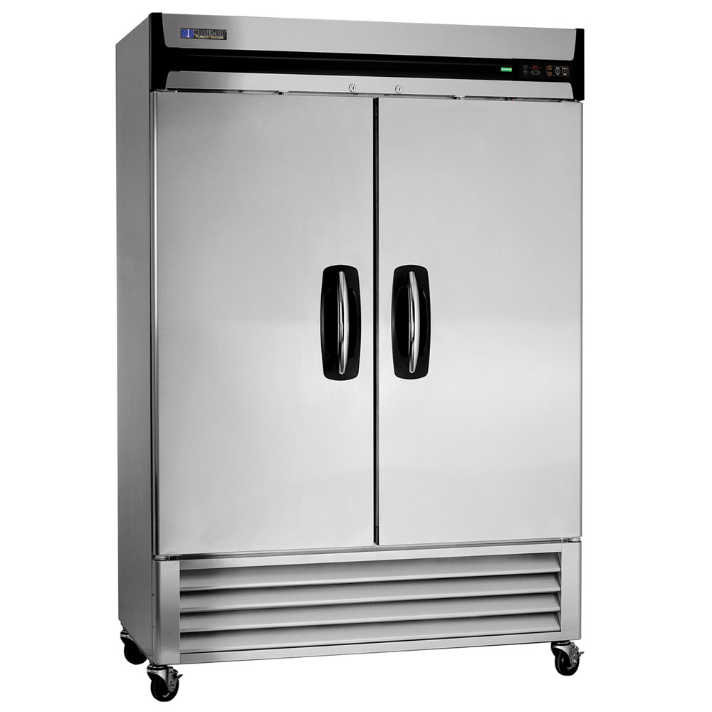 "Masterbilt MBF49-S 55.25"" Reach-In Freezer - (2) Solid Doors, 49-cu ft, Stainless"